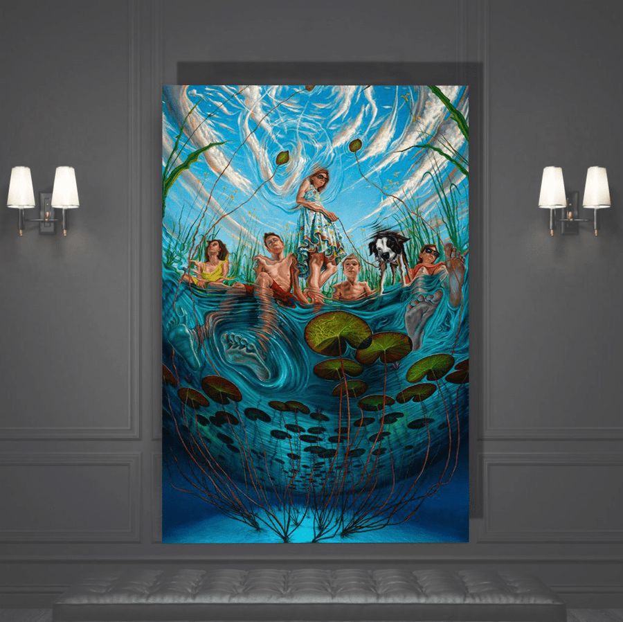 Underwater Trippy Canvas Art