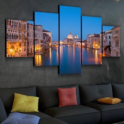 san-diego-art-house - Venice At Night Canvas Set - CANVAS ART LAB -