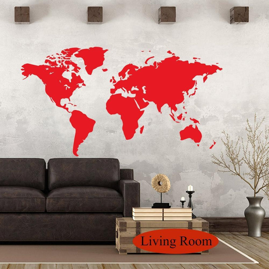 Wall Sticker World Map - san-diego-art-house