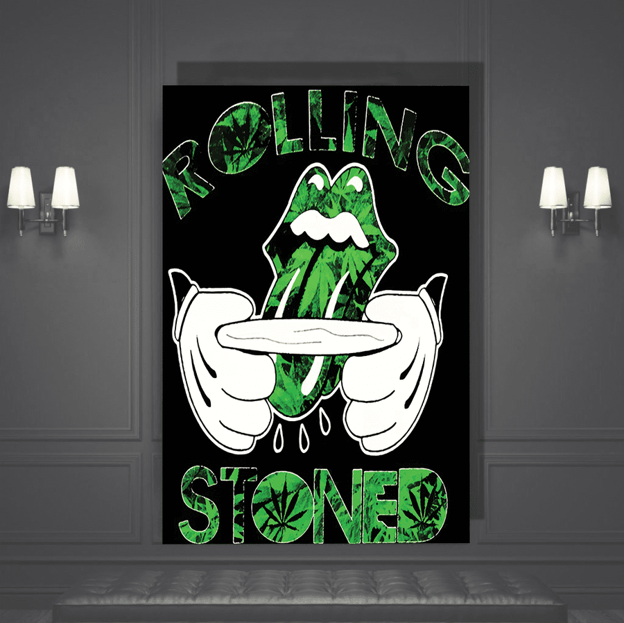 Weed Lips Canvas Art