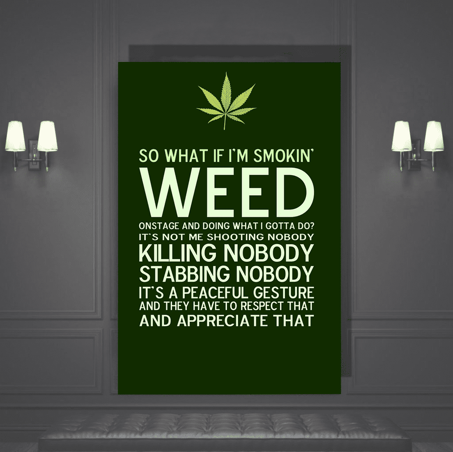 Weed Quote Canvas Art