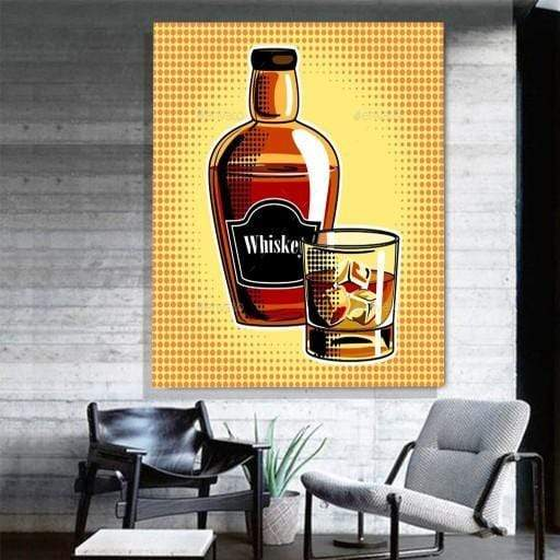 Whiskey Pop Art Canvas