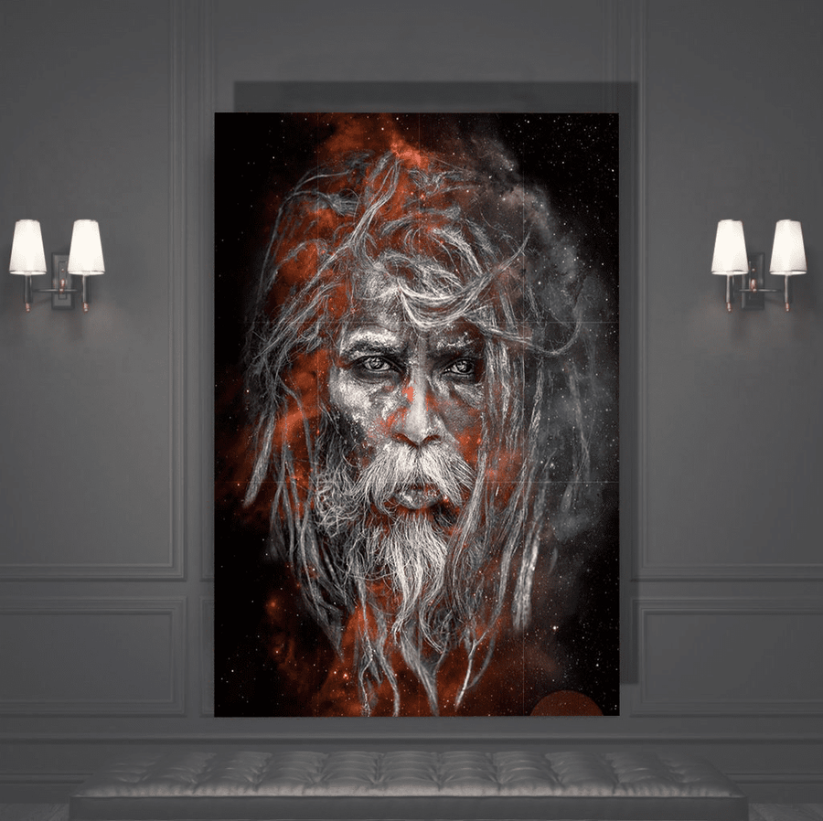 White Baba Canvas Art