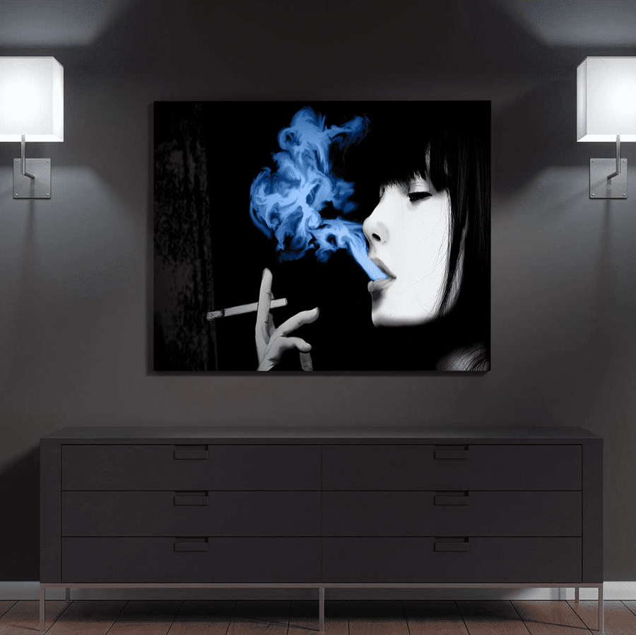 Women Smoking Joint Canvas Set