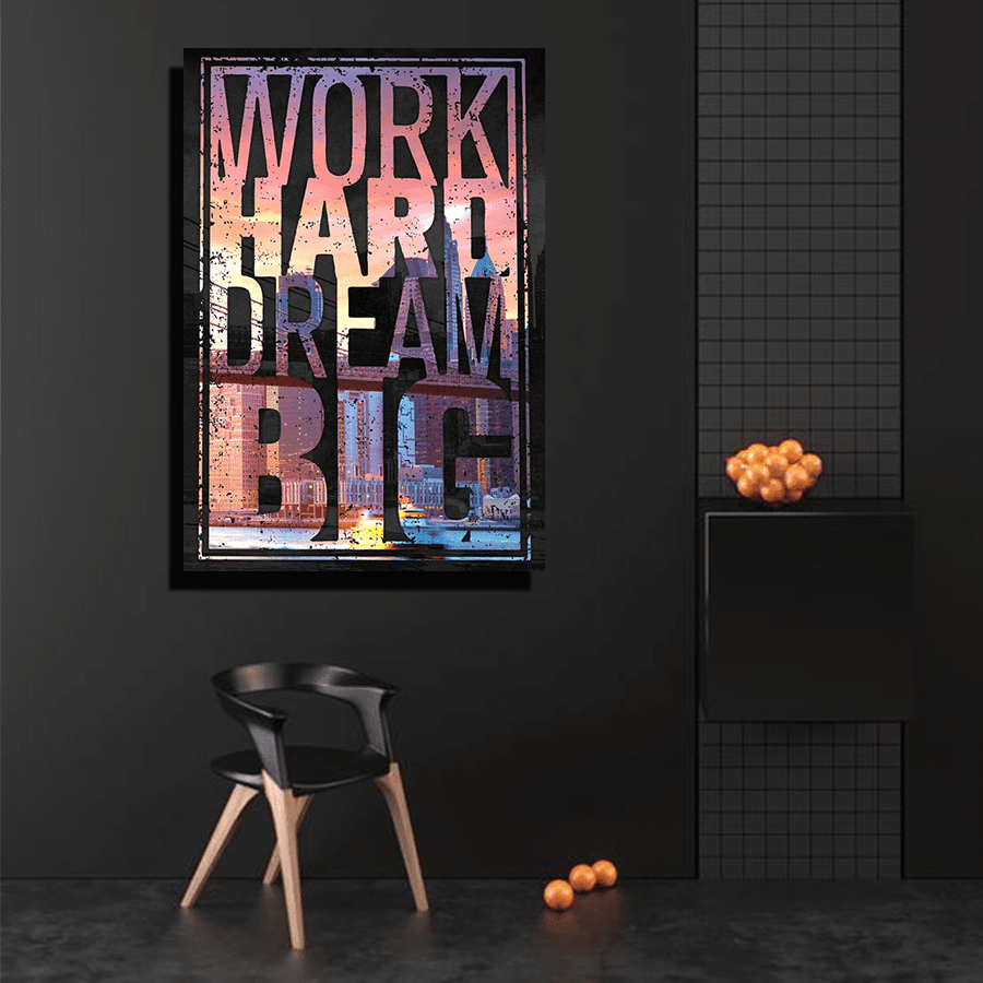 Work Hard Canvas Art
