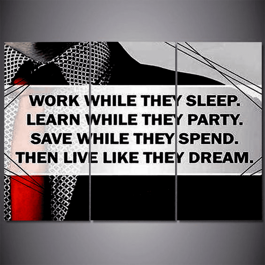 Work While They Sleep Canvas Set