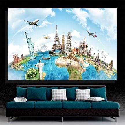 World Travel Canvas Set
