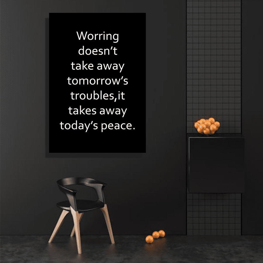 Worrying Canvas Art