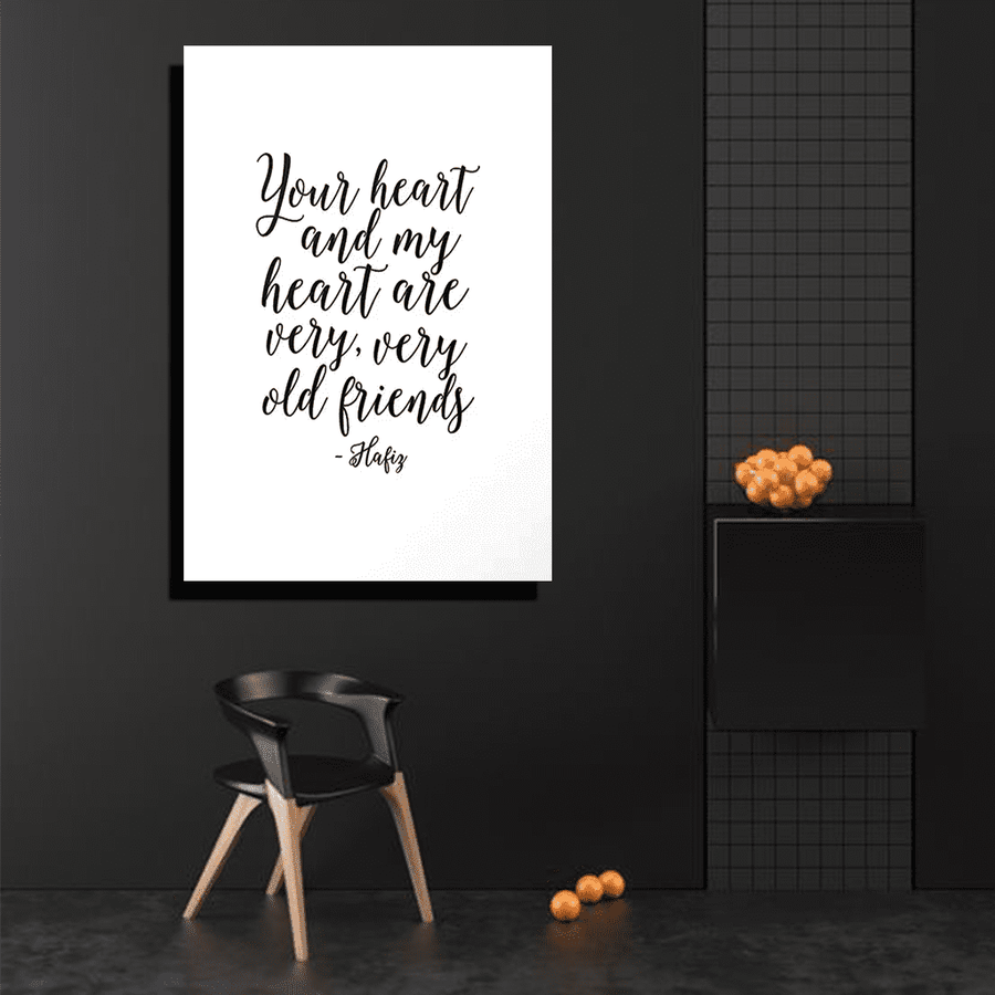 Your Heart and My Heart Canvas Art