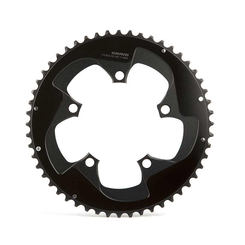 Sram Red B2, 52T, 11Sp, Bcd: 110Mm, Chainring, Aluminum, Black
