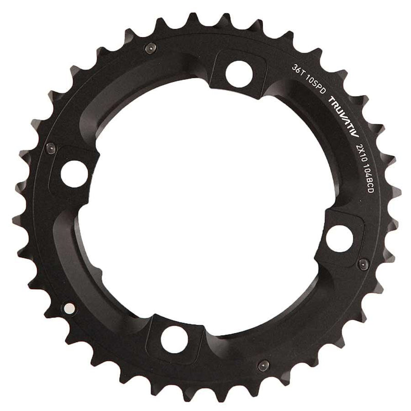 Sram 10 Sp, Bcd 104Mm, 4-Bolt, Pour Bashguard, 38T Middle Chainring, For No-Pin, Aluminum, Black, 11.6215.188.420