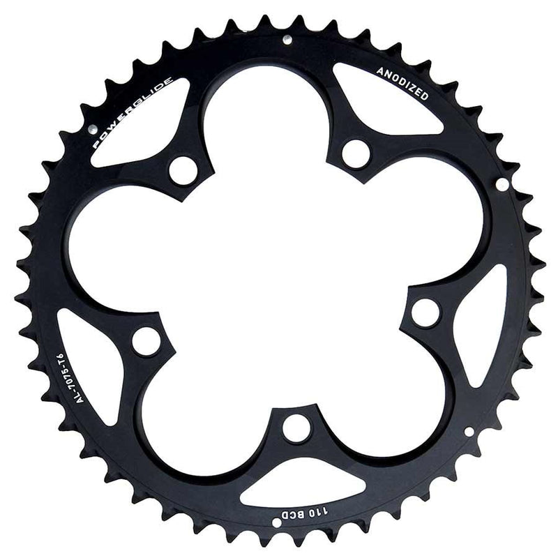 Sram 50T, 10 Sp, Bcd 110Mm, 5-Bolt, Outer Chainring, For 36/50, Aluminum, Black, 11.6215.197.050