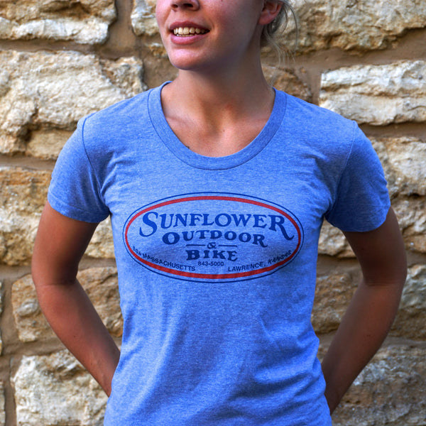 Ladies Blue Oval Track Tee