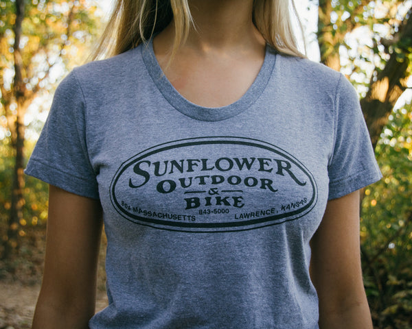 Ladies Grey Oval Track Tee