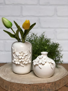 White Flower Vases