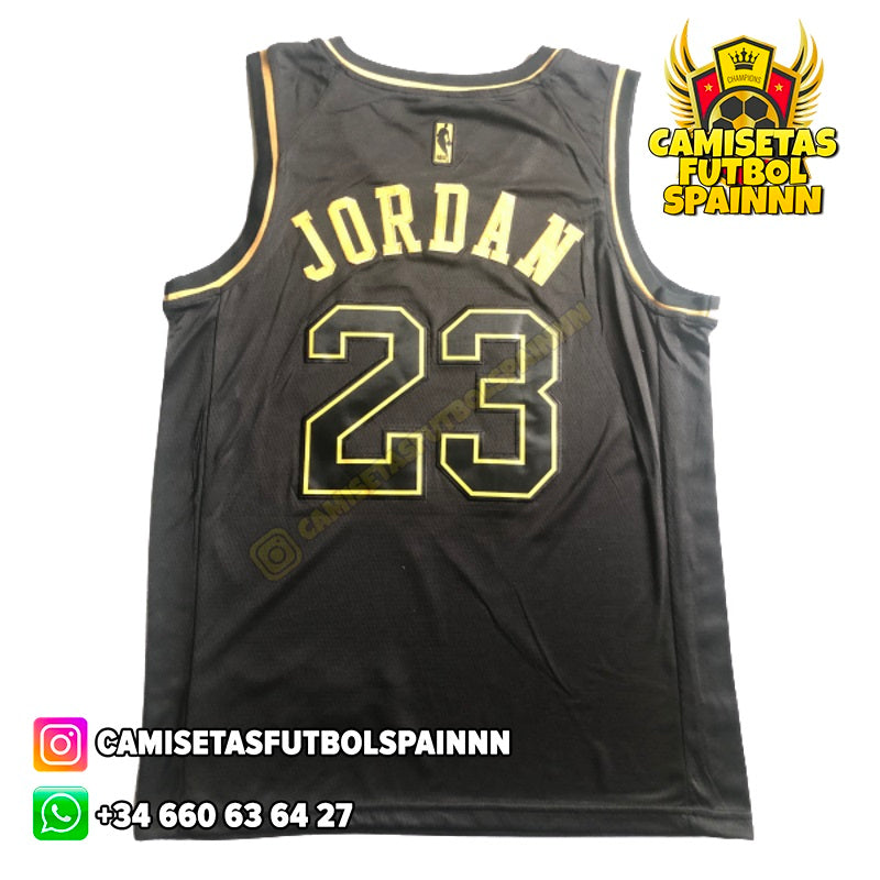 Camiseta Michael Jordan 23 Chicago Bulls Gold Edition