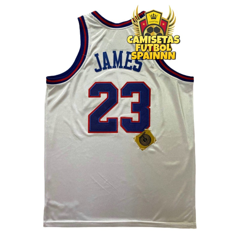 Camiseta Lebron James 23 Looney Tunes Space Jam Blanca