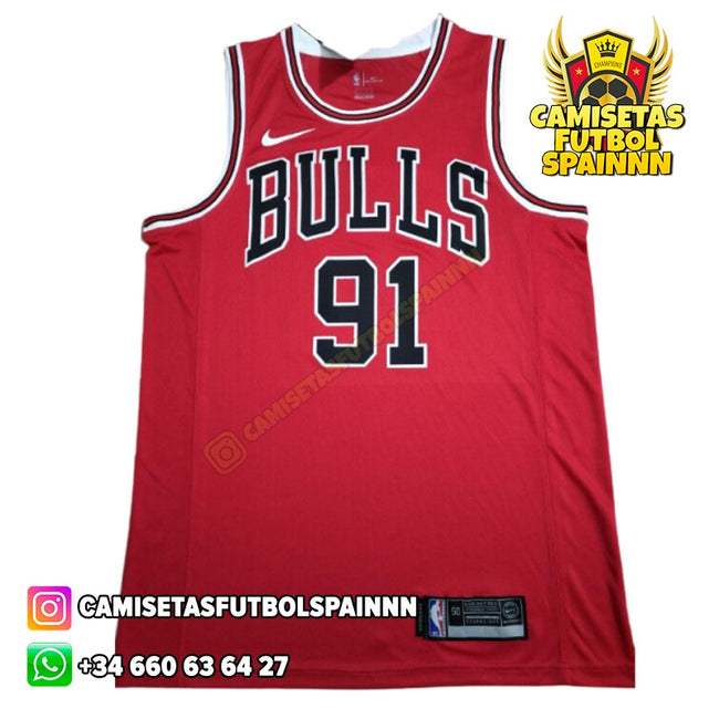 Camiseta Dennis Rodman 91 Chicago Bulls Local