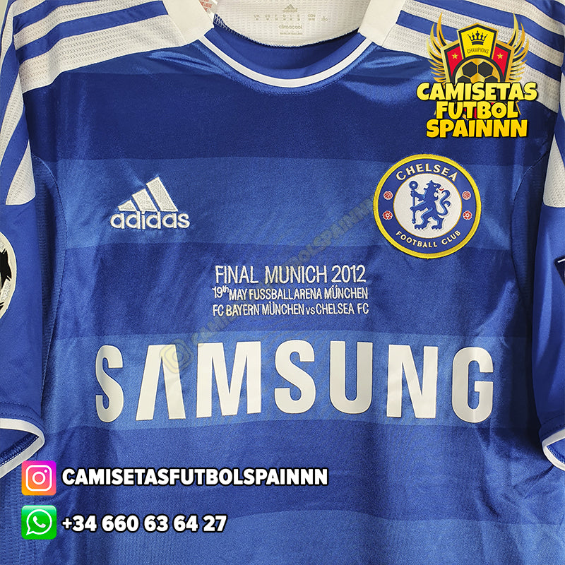 Camiseta Chelsea 2011-2012 Local Final UCL