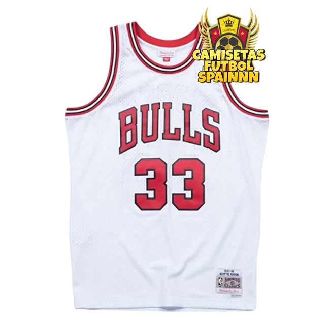 Camiseta Scottie Pippen 33 Chicago Bulls Classic Retro Visitante