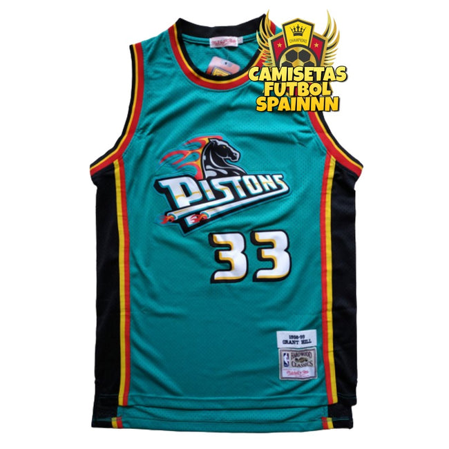 Camiseta Grant Hill 33 Detroit Pistons Local Hardwood Classic