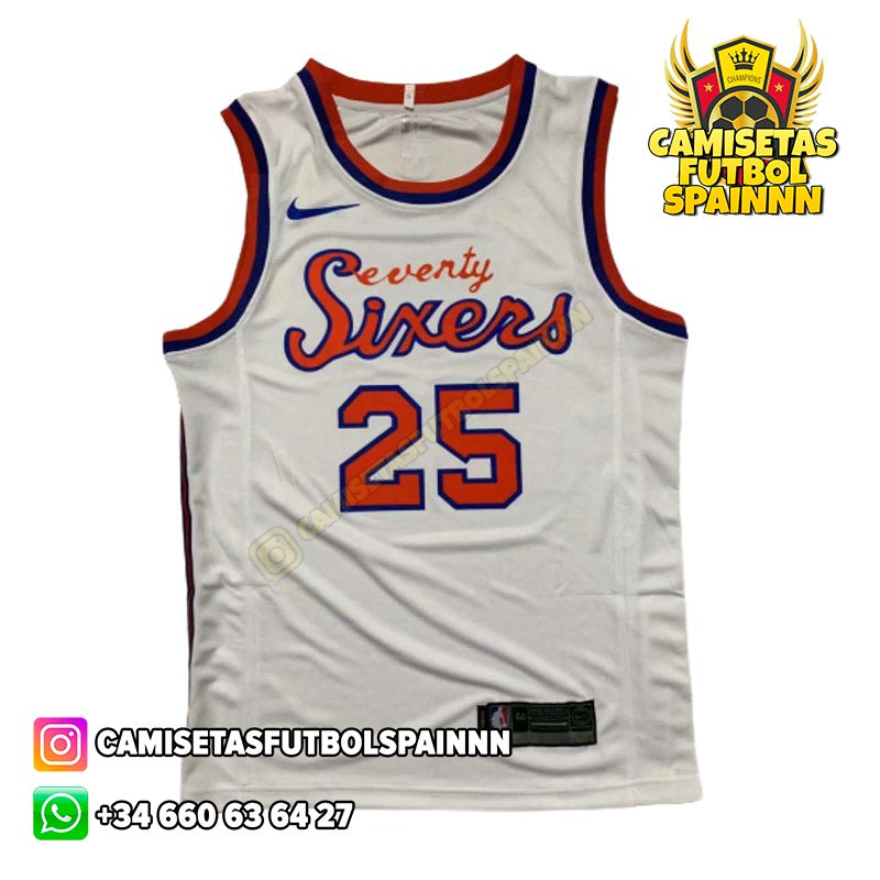 Camiseta Ben Simmons 25 Philadelphia 76ers Earned City