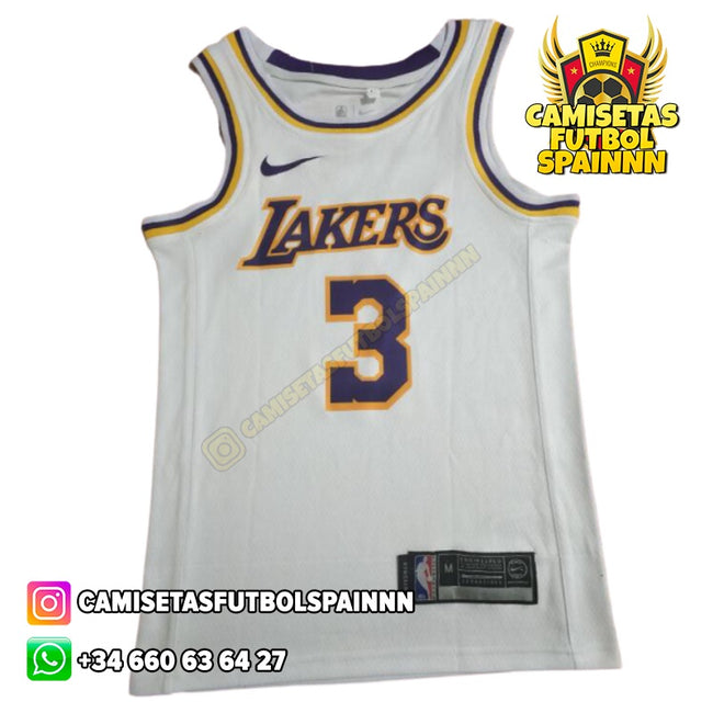 Camiseta Anthony Davis 3 Los Angeles Lakers Visitante