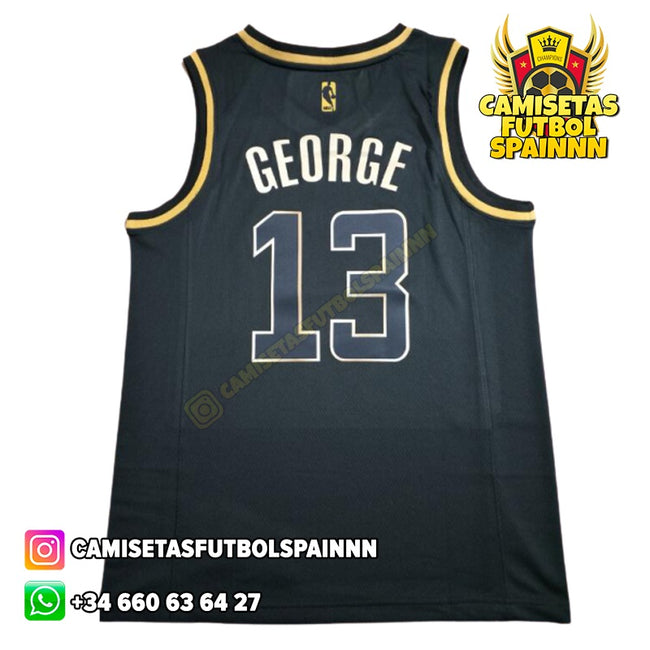 Camiseta Paul George 13 Los Angeles Clippers Gold Edition