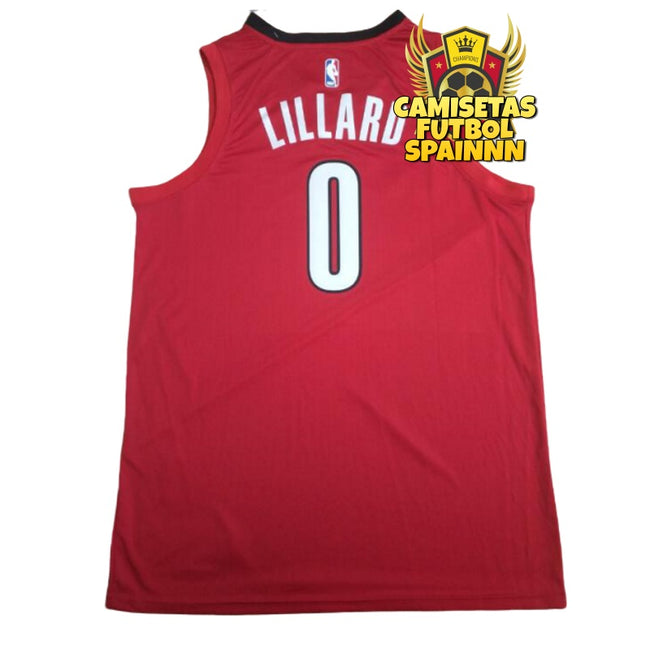 Camiseta Damien Lillard 0 Portland Trail Blazers Rip City Alternativa