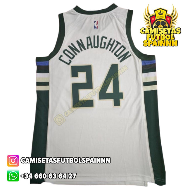 Camiseta Pat Connaughton 24 Milwaukee Bucks Local