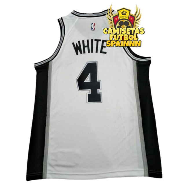 Camiseta Derrick White 4 San Antonio Spurs Local