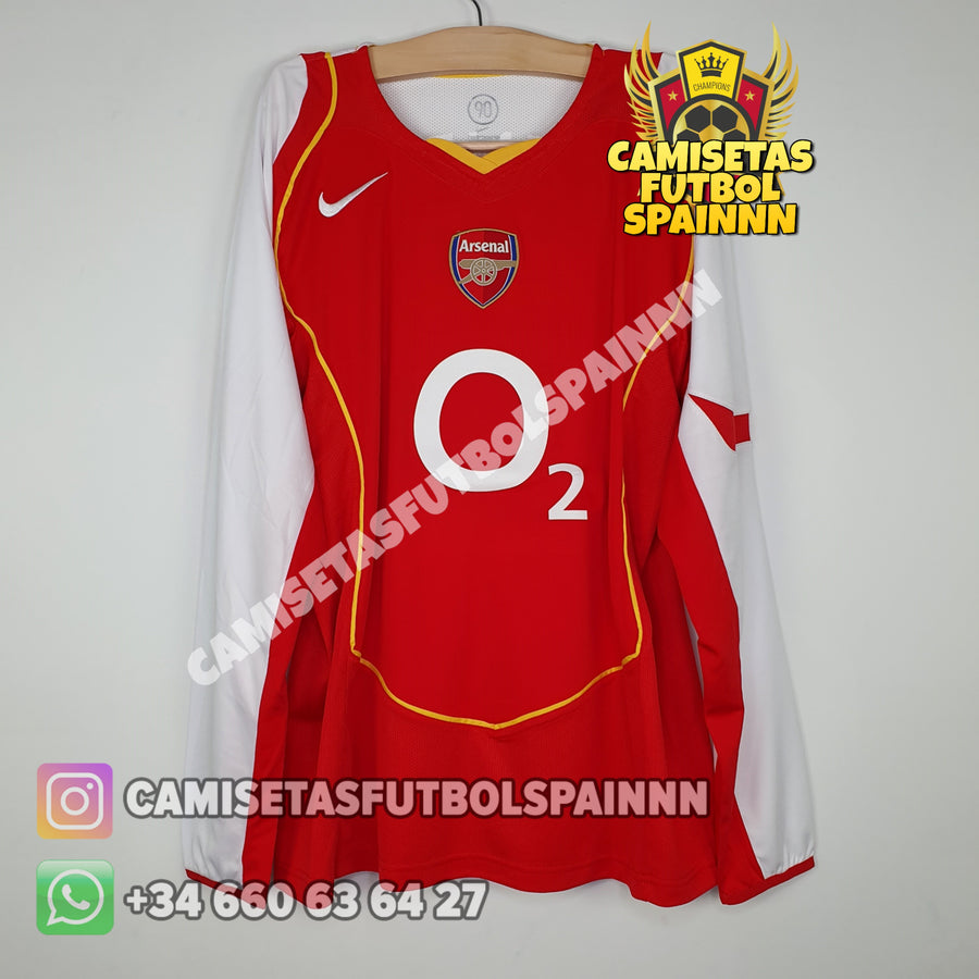 Camiseta Arsenal 2004-2005 Local Manga Larga