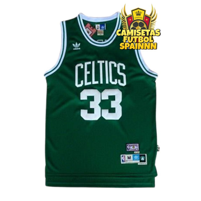 Camiseta Larry Bird 33 Boston Celtics Local Hardwood Classic