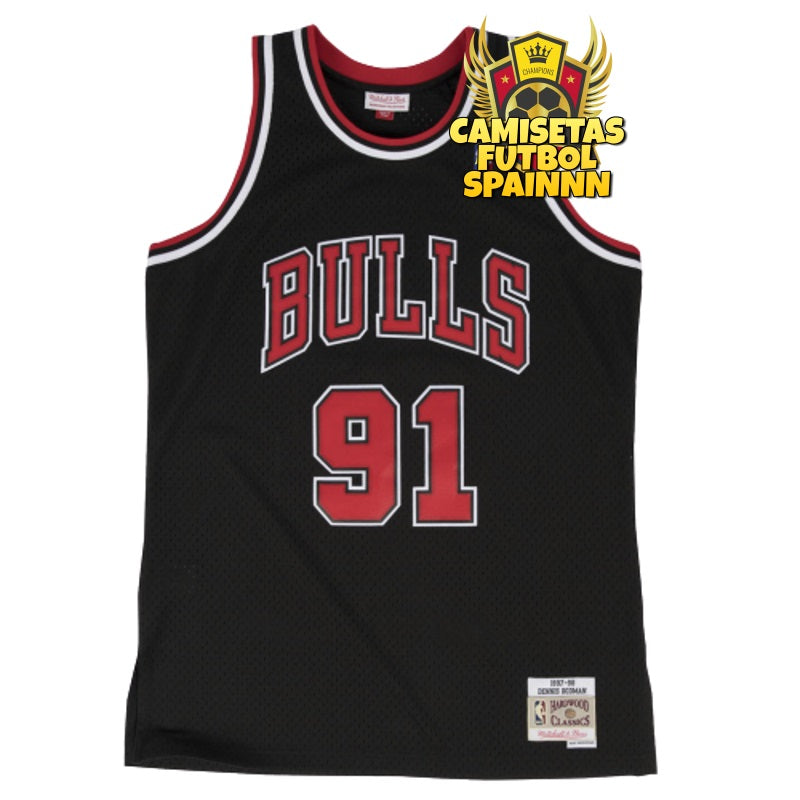 Camiseta Dennis Rodman 91 Chicago Bulls Classic Retro Alternativa