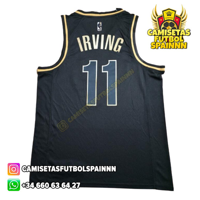 Camiseta Kyrie Irving 11 Brooklyn Nets Gold Edition