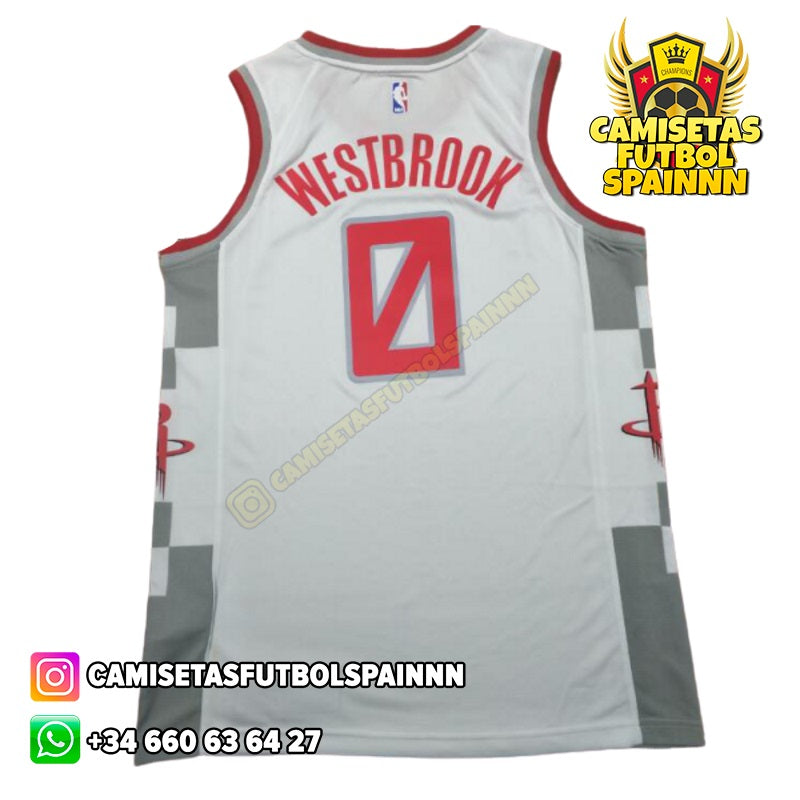 Camiseta Russell Westbrook 0 Houston Rockets H-Town Visitante