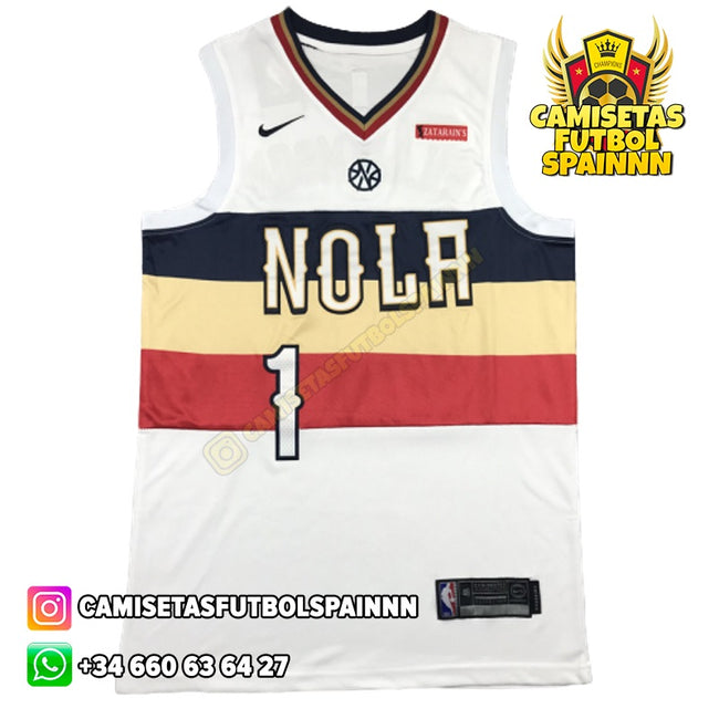 Camiseta Zion Williamson 1 New Orleans Pelicans Worn City