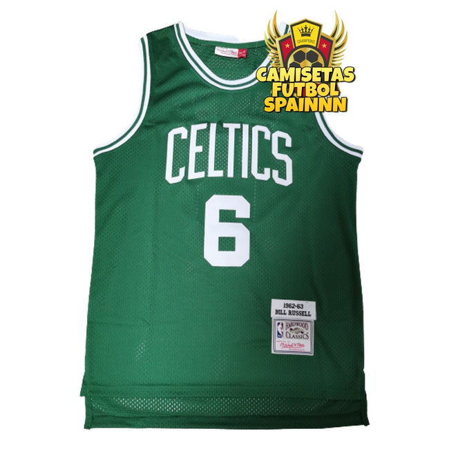 Camiseta Bill Russell 6 Boston Celtics Local Hardwood Classic
