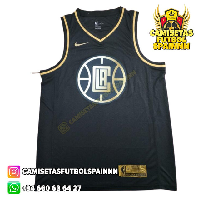 Camiseta Kawhi Leonard 2 Los Angeles Clippers Gold Edition