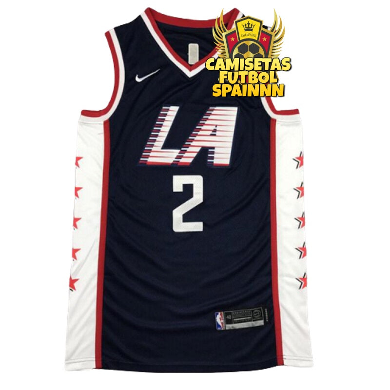 Camiseta Kawhi Leonard 2 Los Angeles Clippers Navy City