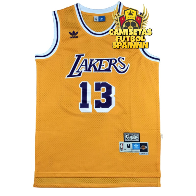 Camiseta Wilt Chamberlain 13 Los Angeles Lakers Local Hardwood Classic