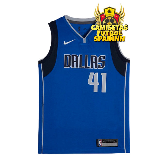 Camiseta Dirk Nowitzki 41 Dallas Mavericks Local