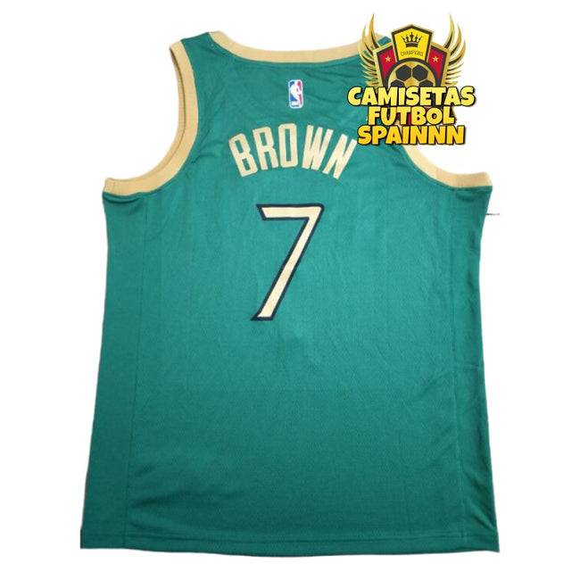 Camiseta Jaylen Brown 7 Boston Celtics San Patricio