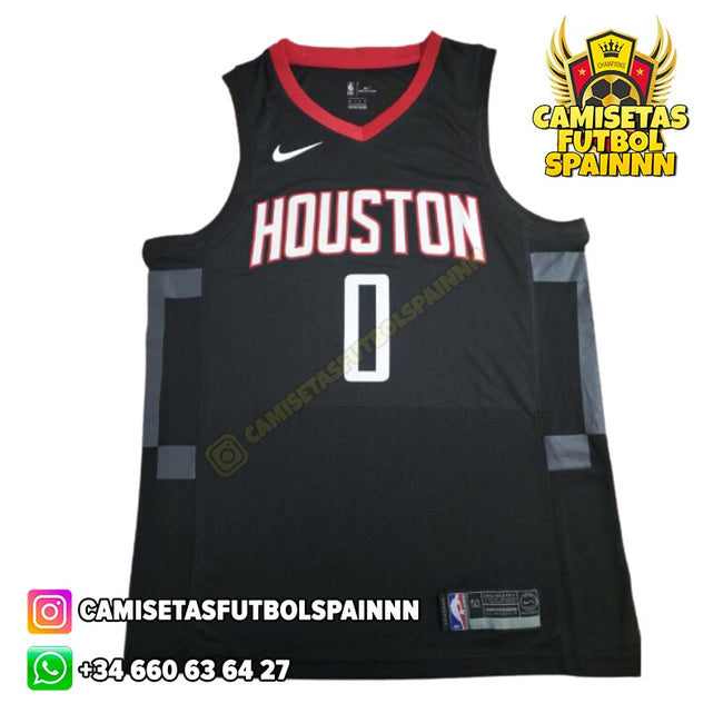 Camiseta Russell Westbrook 0 Houston Rockets Alternativa
