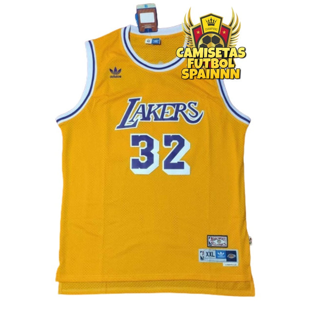 Camiseta Magic Johnson 32 Los Angeles Lakers Local Hardwood Classic
