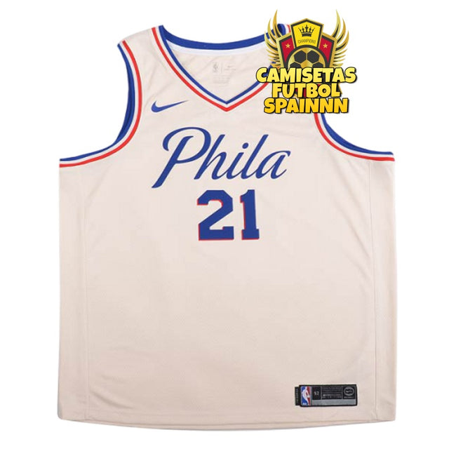Camiseta Joel Embiid 21 Philadelphia 76ers Worn City