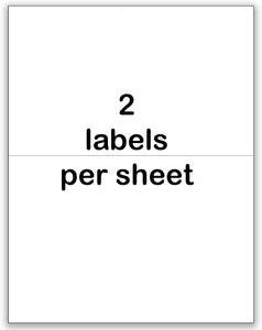 Shipping Labels Ink Jet & Laser Labels, 5.5 x 8.5 , white, 2 up (1 pack of 100 sheets)