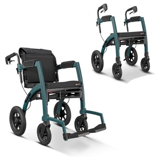 Rollz Motion Performance showing rollator and wheelchair