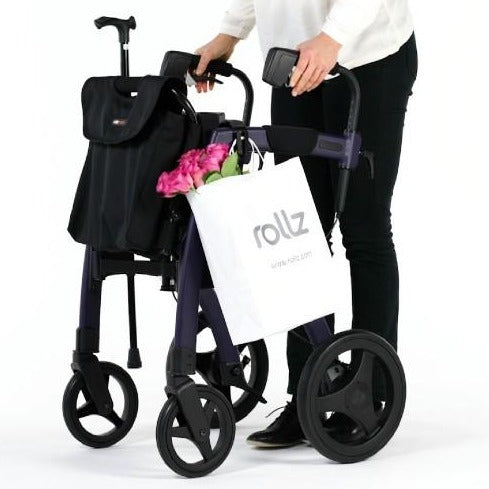 Rollz 3 in one package showing shopping being transported