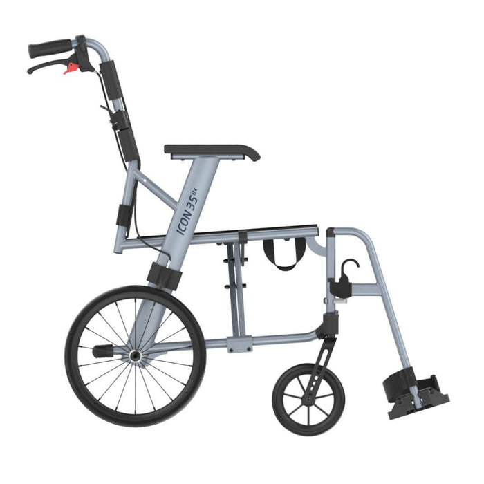 Rehasense Icon 35 BX and LX Wheelchair - Ice Blue